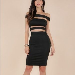 Black Bandage Dress by Wow Couture NWT